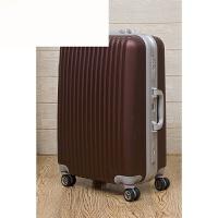 铝框拉杆箱万向轮20寸24寸28寸行李箱女密码箱 咖啡色 20寸