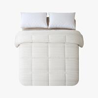 当当优品棉花双人加大冬被 全棉双层纱新疆棉花被芯220x240cm被子 夏叶(驼)