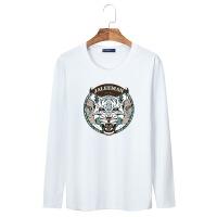 【新】 宽松学生 男式长袖T恤男款棉印花圆领卡通图案衫