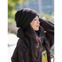 帽子女冬保暖时尚韩版潮百搭潮秋冬中老年妈妈女士冬季洋气毛线帽