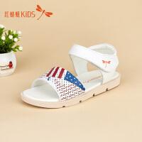 红蜻蜓童鞋露趾透气时尚可爱公主低跟女童儿童凉鞋511F62321X