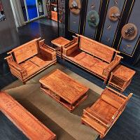 沙发组合中式现代客厅实木沙发仿古木整装家具 组合