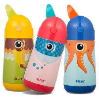 物生物飞鸟儿童不锈钢保温杯吸管杯男女学生卡通水杯宝宝便携水壶