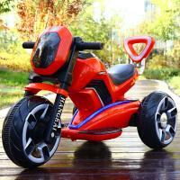儿童电动摩托车三轮车男孩女孩1-5-7岁充电1-3-6岁可坐带遥控玩具 科幻版 红色单驱 小电瓶