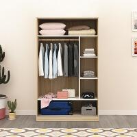衣柜推拉门简约现代经济型组装实木质板式衣柜卧室整体移门大衣橱 2门