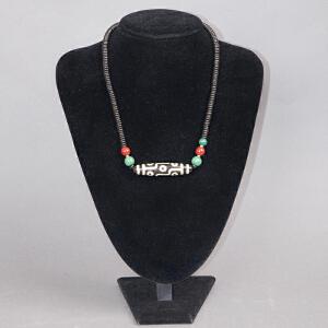 Z775民国《九眼天珠项链》(九眼天珠 集九乘功德,慈悲增长,离苦得乐, 权威显赫,利益极大。)