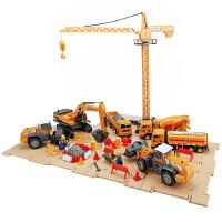 男孩套装大号工程车压路机汽车儿童玩具车吊车挖掘机玩具车