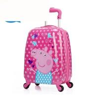 儿童拉杆箱卡通旅行箱18寸宝宝行李箱20寸登机箱男女拖箱 玫红色爱心小猪 18寸(3到7岁)*品