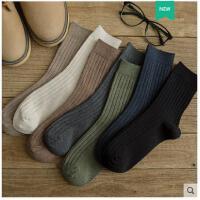 袜子男长袜秋冬季中筒袜男士纯棉袜吸汗防臭秋冬款黑色商务袜