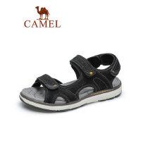 camel骆驼真皮休闲凉鞋2019夏季新款牛皮户外沙滩鞋子防滑学生潮流男鞋