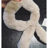 17秋冬婴幼儿童獭兔皮草围巾女童冬季保暖兔毛宝宝真毛围脖