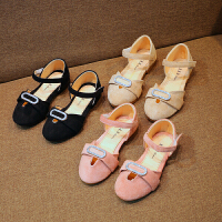 夏季女童凉鞋儿童包头公主鞋小女孩中大童皮鞋潮
