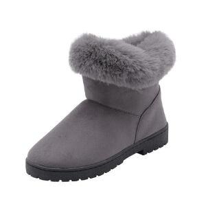 O'SHELL法国欧希尔新品冬季119-S-1韩版磨砂绒面平跟女士雪地靴
