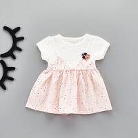 女宝宝夏天裙子婴儿夏季连衣裙0一1岁衣服薄款洋气夏装公主裙