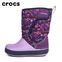 【秒杀价 仅限一天】Crocs儿童冬靴 儿童图案雪地洛基靴保暖棉靴子雨鞋|204704 儿童图案雪地洛基靴