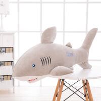 新款卡通软体羽绒棉鲨鱼毛绒玩具抱枕海豚海洋公仔礼物