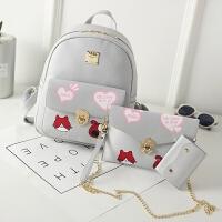 韩版儿童双肩包包女孩旅行背包女童小学生时尚休闲可爱卡通书包潮