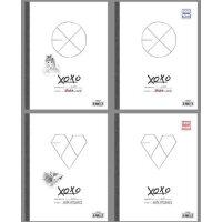 正版 EXO-M+K 狼与美女XOXO双专辑 正规一辑 2CD+2写真集+2小卡