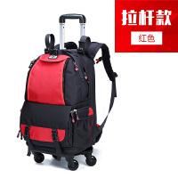 单反相机包佳能拉杆箱式男女户外旅行多功能防水双肩摄影背包