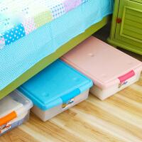 爱丽思IRIS 大号有盖床底透明长型塑料衣物整理盒收纳箱 UG-725