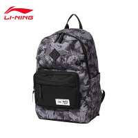 李宁双肩包男包2018新款运动时尚系列背包书包学生电脑包运动包ABSN087