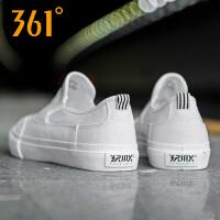 361度男鞋运动鞋秋季轻便休闲帆布鞋轻便透气一脚蹬简约硫化鞋