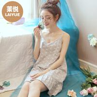 吊带睡裙女夏韩版棉清新少女学生性感可爱睡衣裙子薄款情调衣人