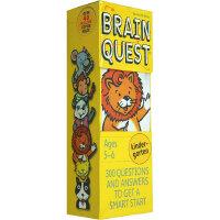 顺丰包邮 英文原版 Brain Quest Kindergarten 头脑思维 5-6岁益智问答卡片 儿童智力卡片 美