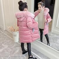 儿童冬装韩版洋气加绒棉袄外套女童棉衣中长款