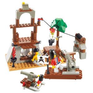 【当当自营】小鲁班加勒比海盗系列儿童益智拼装积木玩具 守护骷髅屋M38-B0278