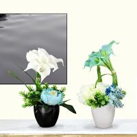 仿真花客厅摆设假花摆件餐桌花艺绢花塑料花装饰花花艺套装