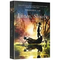 现货正版 静静的听 英文原版小说 Listen, Slowly 十二岁的旅程 英文版儿童文学书 纽伯瑞奖 十岁那年姐妹