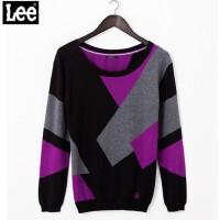 秋款时尚拼接长袖针织毛衣L10274138K99