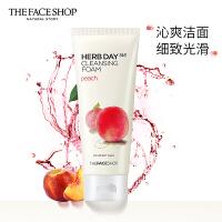 The Face Shop 菲�小� 每日草本水蜜桃泡沫��面膏170g(洗面奶 ��面乳 有效清�� 舒� 保��)