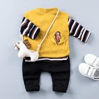 男童秋装套装宝宝春秋2婴儿小孩衣服儿童1-3岁女童三件套