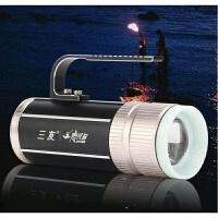 钓鱼灯 夜钓灯蓝光白光双光源强光超亮充电钓鱼灯支架手电筒