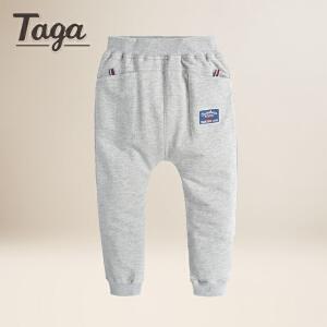 TAGA  春秋新款童装男童休闲裤儿童针织裤纯棉中大童裤子