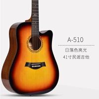 电箱单板民谣吉他41寸40木吉他初学者学生女男入门吉它乐器