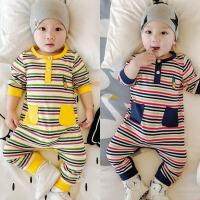 新生儿衣服春秋纯棉长袖薄男孩爬爬服韩版 0-3-6个月小宝宝衣服女