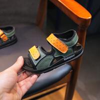 夏季儿童凉鞋男童轻便软底露趾童鞋学生休闲魔术贴鞋子潮