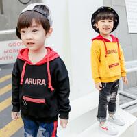 男童卫衣男孩春季t恤儿童连帽上衣宝宝长袖打底衫
