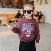 卫衣女加厚加绒冬 双12新款女童套头卫衣 童装儿童韩版保暖上衣