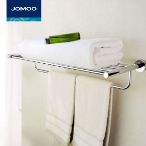 【每满100减50元】JOMOO九牧不锈钢毛巾架浴巾架置物架浴室挂件九牧五金挂件936013