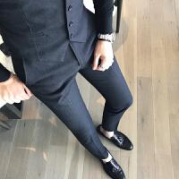 秋装男士韩版修身休闲裤英伦商务免烫西裤潮发型师小脚裤西装长裤