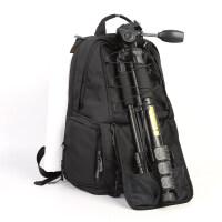 相机包双肩摄影包大容量防水佳能尼康户外旅行照相包15.6寸电脑包 黑色