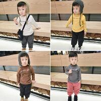 男童加绒厚打底衫新款韩版女儿童宝宝长袖T恤保暖衣高领上衣13岁