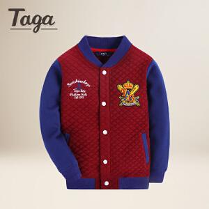TAGA  春 春秋款童装男童外套中大童学生儿童印章休闲上衣