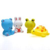 云儿宝贝戏水玩具 婴儿洗澡玩具 新生宝宝沐浴喷水捏捏叫玩具组合