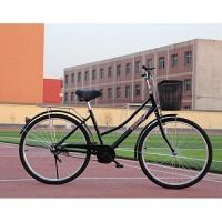 自行车女式通勤单车普通老式城市复古代步轻便学生男女士脚踏