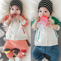 婴儿春秋卫衣宝宝拉链衫9新生儿上衣春季0-1岁运动衫3-6-12个月潮